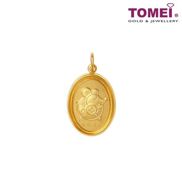 [Online Exclusive]Wealth Across Generations Silver Pendant | Tomei 999 (24K) Gold Plated (LUCKY-CNY-2020)