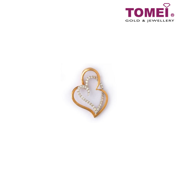 [Last Piece] Dusk and Dawn of Coruscating Hearts Diamond Pendant | Tomei White Gold 750 (18K) (DP0102857)