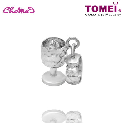 "Tomei White Gold 585 (14K) ""Goblet"" Chomel Charm (P41)"