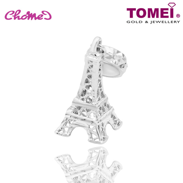 "Tomei White Gold 585 (14K) ""Eiffel Tower"" Chomel Charm (B150)"