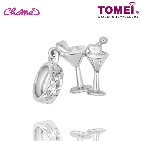"Tomei White Gold 585 (14K) ""Love Potion Cocktail"" Chomel Charm (P5840)"