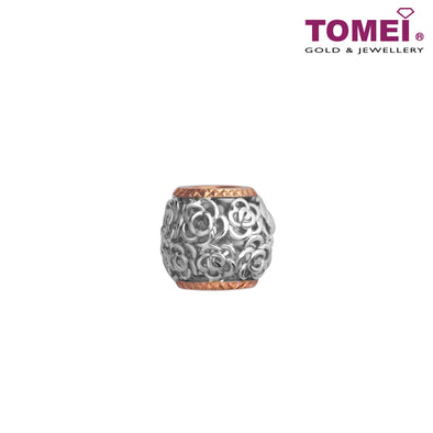 [Pre-Order] Charm of Crocheted Roses in Intertwined Opulence | Snowy Snowball Collection | Tomei White Gold 585 (14K) (CHO-P6119) Peach Pink