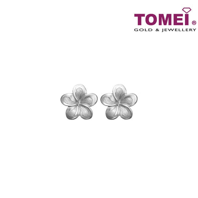 TOMEI Splendour in Floriate Elegance  Earrings, White Gold 585 (X3E7789-L-W-LS) (0.95G)