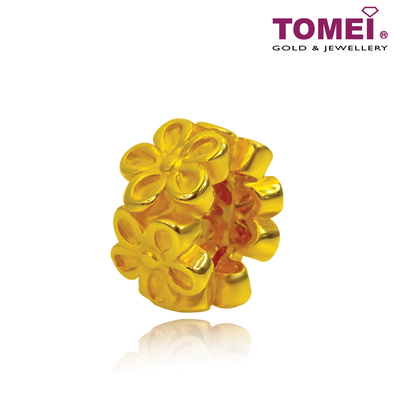 [Online Exclusive] Blooming Flowers Charm | Colors of Memories | Tomei Yellow Gold 916 (22K) with Complimentary Bracelet (TM-YG0651P-1C)