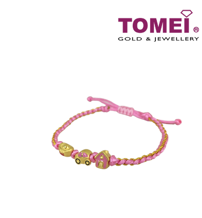 [Online Exclusive]美梦成金一车黄金屋串饰Wish-Fulfilling Trio Money, Car & House Charms with Expandable Rope Bracelet (PS-EC-YBCF)