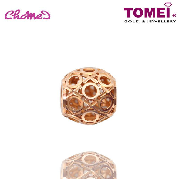 "Tomei Rose Gold 585 (14K) ""Gender Symbol"" Chomel Charm (P5744R)"