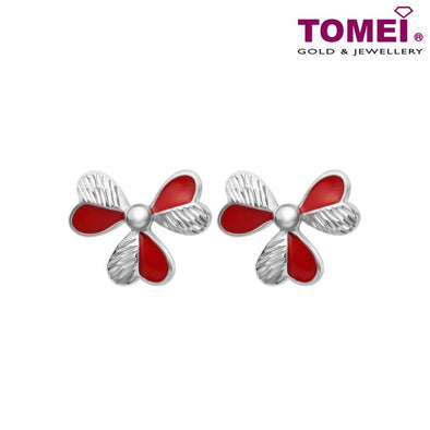 Blossoms Earrings | Dazzling Dreams Collection | Tomei White Gold 585 (14K) (E1985)