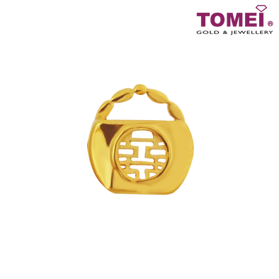 "Tomei Yellow Gold 916 (22K) ""Double Happiness Wedding Collection"" Bag Charm (TM-YG0630P-1C)"