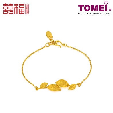 Tomei x Xifu Yellow Gold 999 (24K) Blooming Leaves: The Arrival of Blessings Bracelet 繁叶福临手链 (XF-FYFL-M)