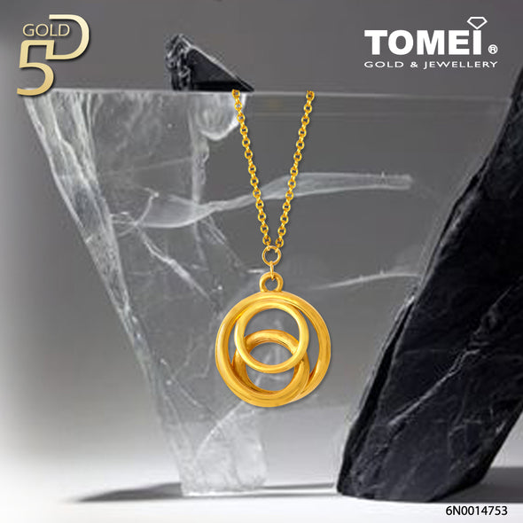 Circles of Me & You Necklace | Tomei Yellow Gold 999 (24K)