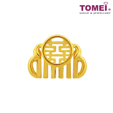 Auspicious Comb Charm | Double Happiness Wedding Collection | Tomei Yellow Gold 916 (22K) (TM-YG0625P-1C)