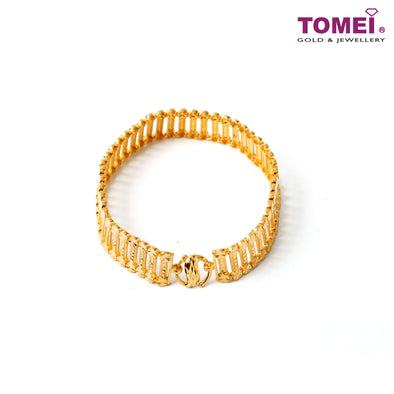 [Online Exclusive]Harmonious Affinity in Linear Motion Bracelet | Tomei Yellow Gold 916 (22K) (9M-DM-B3504-L-1C)