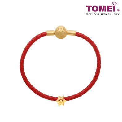 Snowflake Charm | Tomei Yellow Gold 916 (22K) with Complimentary Red Bracelet (TM-YG0703P-1C)