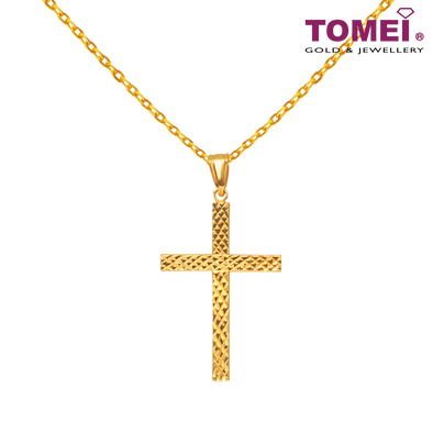 Devotedly Crossed Pendant | Ooh La La Collection | Tomei Yellow Gold 916 (22K) (XXDCTP0661-1C)
