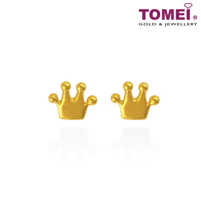 Tomei Yellow Gold 916 (22K) Tiara Earrings (EE2817-1C)
