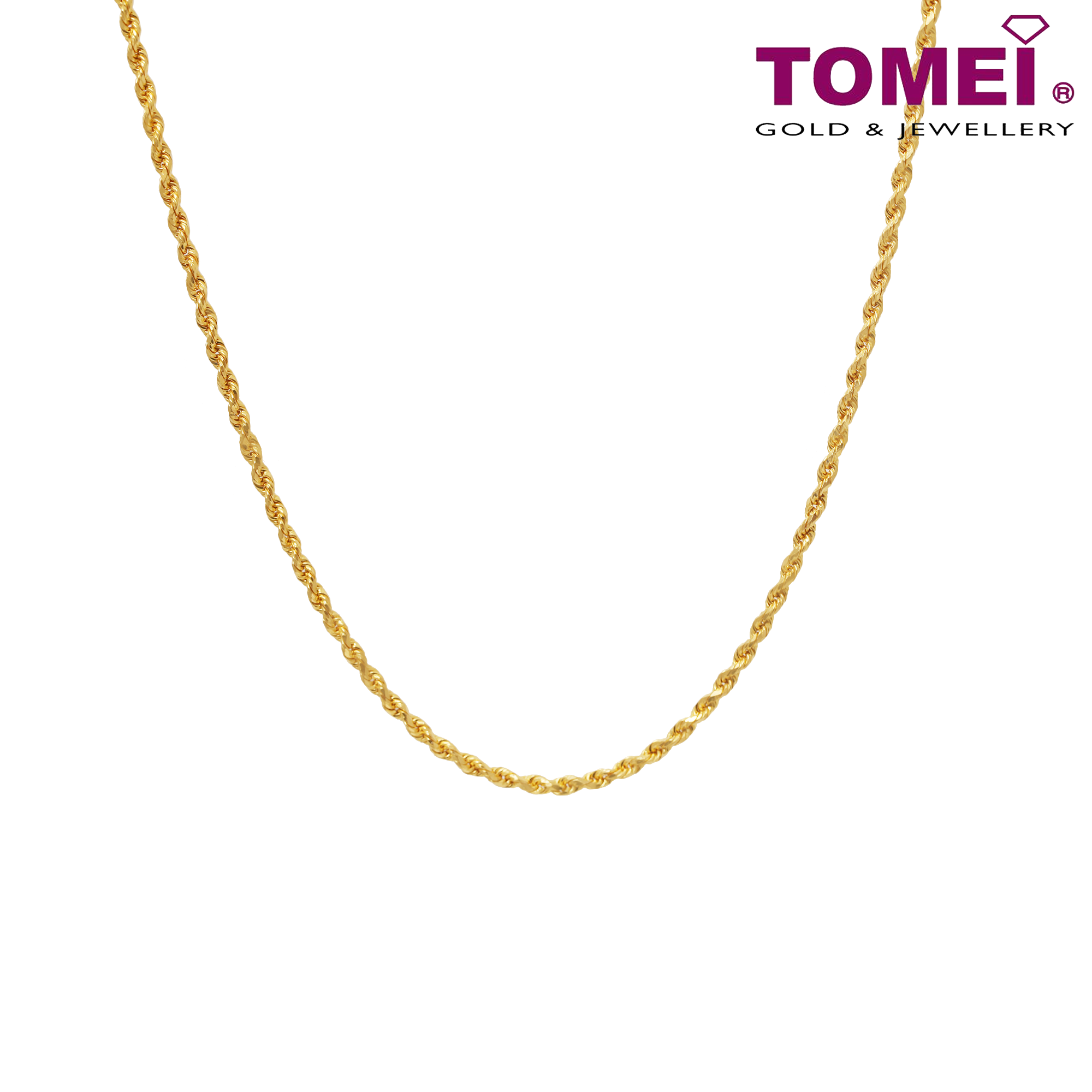 0d37bee64648e Tomei Yellow Gold 916 (22K) Men's Twisted Singapore Chain (9N-SXQC18 ...