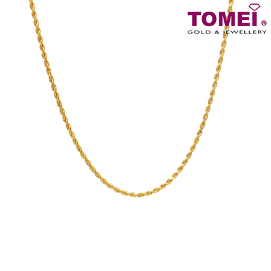 Men's Twisted Singapore Chain | Tomei Yellow Gold 916 (22K) (9N-SXQC18-30)