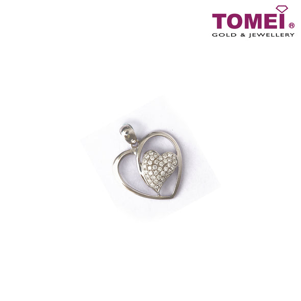 [Online Exclusive] Pavé of Luminescently Luscious Heart Diamond Pendant | Tomei White Gold 750 (18K) (P5372)