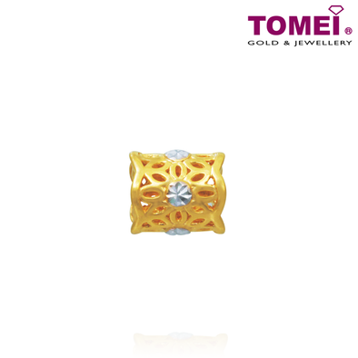 Dual-Tone Treasure Chomel Charm | Light of My Life | Tomei Yellow Gold 916 (22K) (TM-YG0679P-2C)