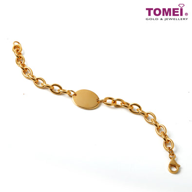 [Online Exclusive] Ovality of Attraction Bracelet | Tomei Yellow Gold 916 (22K) (9M-DM-B5833-1C)
