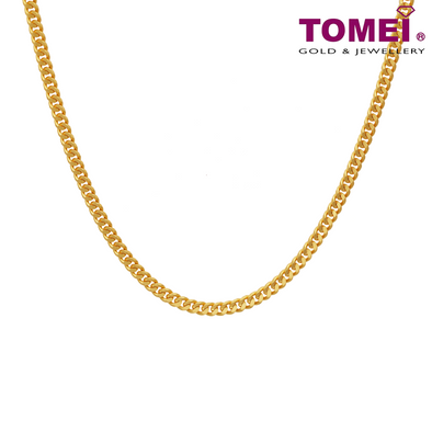 [Last Piece] Men's Cuban Link Chain | Tomei Yellow Gold 916 (22K) (9N-ZS16-50)