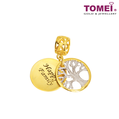 [Online Exclusive]Happy Family Tree Charm | Tomei Yellow Gold 916 (22K) (TM-YG0689P-2C)