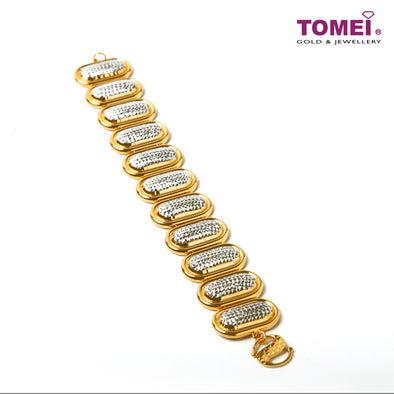 [Online Exclusive] Duality of Glamorous Splendor Bracelet | Tomei Yellow Gold 916 (22K) (9M-DM-B102153-A-2C)