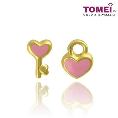 Key to My Heart Earrings | Tomei Yellow Gold 916 (22K) (EE2840-P-EC)