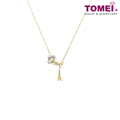 Love Is ... Necklace | Tomei Yellow Gold 916 (22K) (AS-X2N190795-2C)