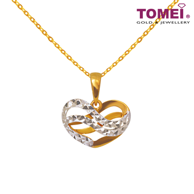 Wrap You In Love Pendant | Ooh La La Collection | Tomei Yellow Gold 916 (22K) (9P-DM-YG0277P-2C)