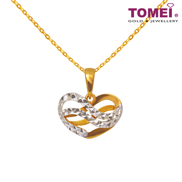 Tomei Yellow Gold 916 (22K) Wrap You In Love Pendant (9P-DM-YG0277P-2C)