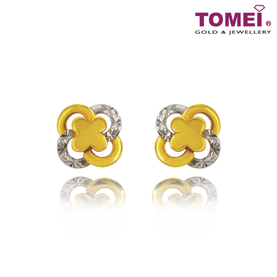 "Tomei Yellow Gold 916 (22K) ""Ooh La La"" Earrings (9Q-YG1065E-2C)"