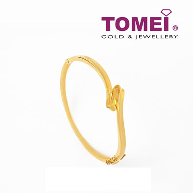 Bangle with the Sole Crest and Trough Wave Motion | Tomei Yellow Gold 916 (22K) (9L-YG0736P-2C)