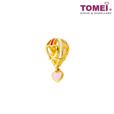 [Online Exclusive]Love in the Air Hot Air Balloon Charm | Tomei Yellow Gold 916 (22K) (TM-YG0553P-EC)