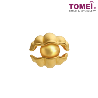 [Online Exclusive] Tomei x Xifu Yellow Gold 999 (24K) Ocean of Love Seashell Lucky Charm + Complimentary Black Bracelet (XF-HYLQ-BK-P-B)