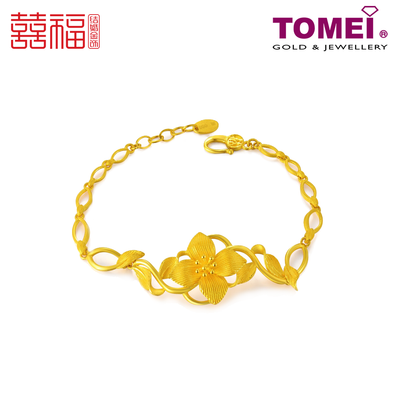 Tomei x Xifu Yellow Gold 999 (24K) The Blessing of Love Wreath Bracelet 花绕幸福手链 (XF-HRXF-M)