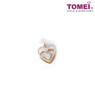 [Last Piece] Interlaced Pavé of Ravishingly Radiating Heart Diamond Pendant | Tomei White Gold 750 (18K) (DP0099333)