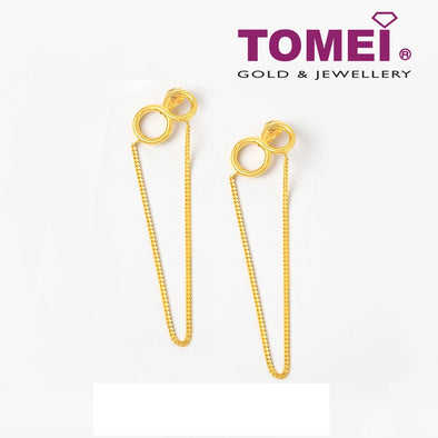 Earrings of Infinity Symbol with V-Form Nexus | Tomei Yellow Gold 916 (22K) (AS-E0009-A-1C)