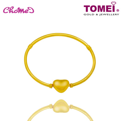 Heart Chomel Bangle | Tomei Yellow Gold 916 (22K) (TM-BK003-1C)