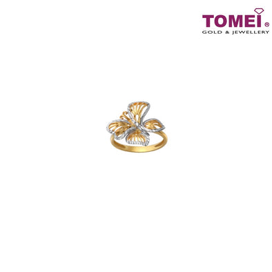 TOMEI Prima Aviana Ring, Yellow Gold 916 (9O-YG0696R-2C) (3.56G)