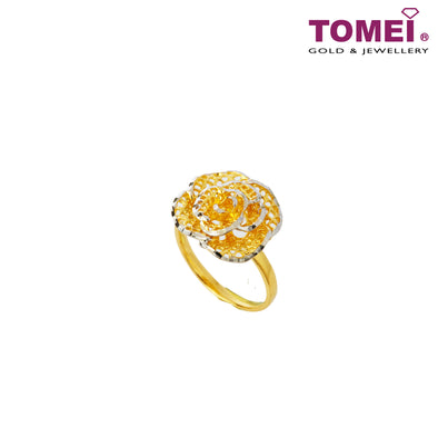 [Online Exclusive] Royally Resplendent Rose Ring | Tomei Yellow Gold 916 (22K) (9O-RG1559-2C)