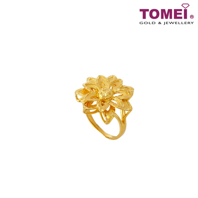 [Online Exclusive] Multipetaled Flower with the Golden Rays Ring | Tomei Yellow Gold 916 (22K) (9O-RG1468-1C)