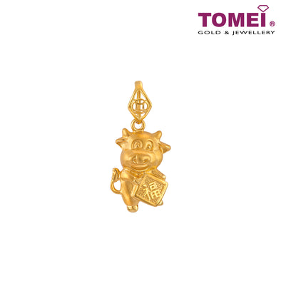 Blessing Little Ox 福气牛 Pendant | Tomei Yellow Gold 916 (22K) (9P-PT2746-1C)