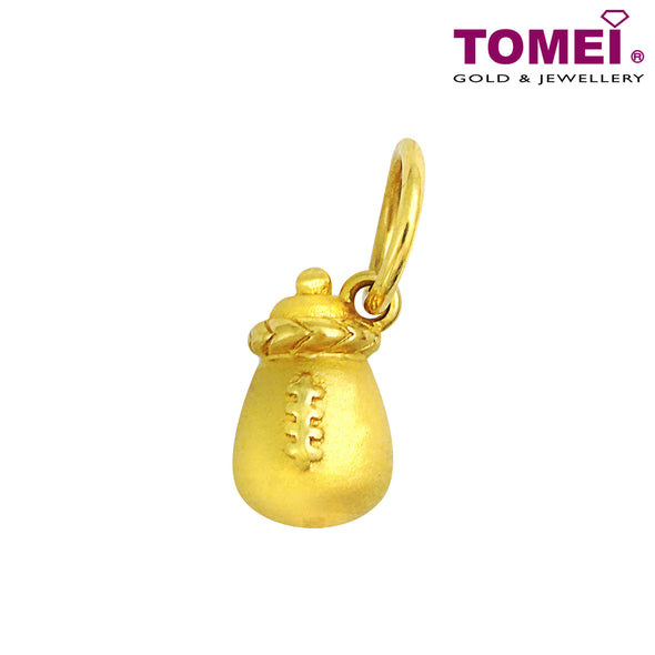 "Tomei Yellow Gold 916 (22K) ""Golden Milk Bottle"" Baby Pendant (9P-YG0454P-1C)"