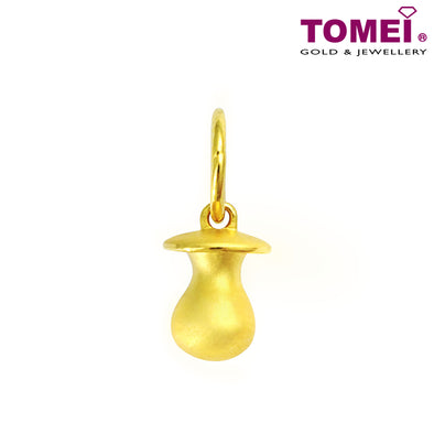 "Tomei Yellow Gold 916 (22K) ""Golden Pacifier"" Baby Pendant (9P-YG0455P-1C)"