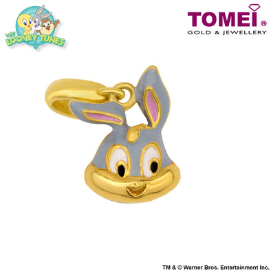 "Tomei x Baby Looney Tunes Yellow Gold 916 (22K) ""Baby Bugs Bunny"" Chomel Charm (91-YG0497P-EC)"
