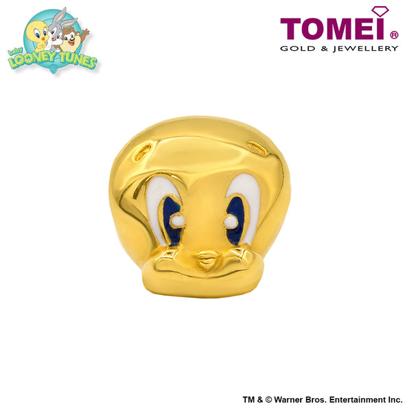 "Tomei x Baby Looney Tunes Yellow Gold 916 (22K) ""Baby Tweety"" Chomel Charm (92-YG0496P-EC)"