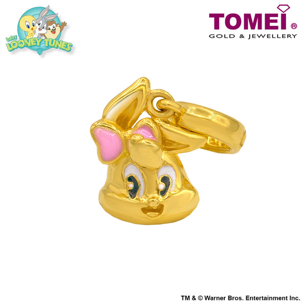 "Tomei x Baby Looney Tunes Yellow Gold 916 (22K) ""Baby Lola Bunny"" Chomel Charm (97-YG0498P-EC)"