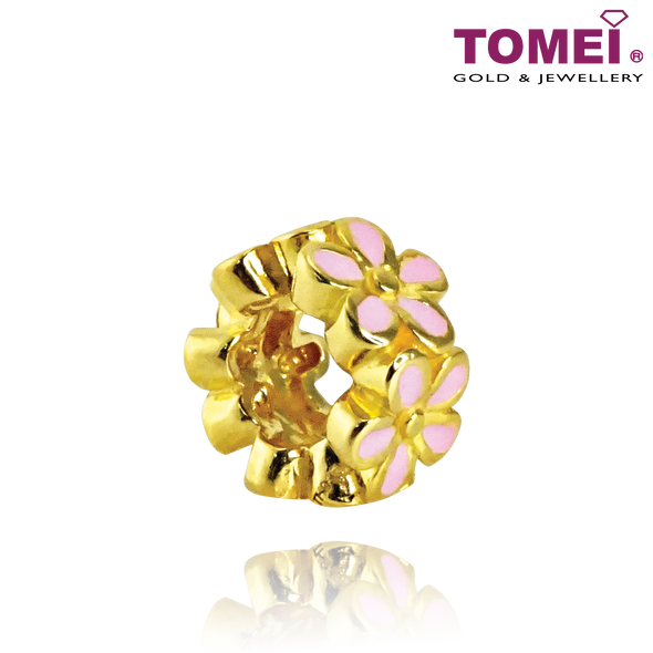 [Online Exclusive] Blooming Flowers Charm | Tomei Yellow Gold 916 (22K) with Complimentary Bracelet (TM-YG0651P-1C)