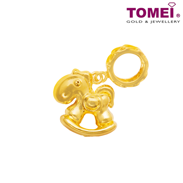 [Last Pieces] Rocking Horse Charm | Tomei Yellow Gold 916 (22K) (TM-APP059-HG-1C)